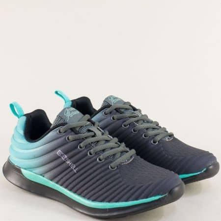 Дамски маратонки в синьо и сиво- GRAND ATTACK 30463-40z
