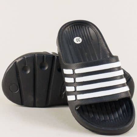 Детски джапанки в черно и бяло- GRAND ATTACK 30508ch