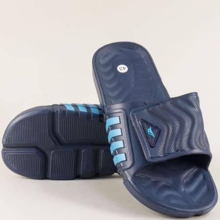 Тъмно сини мъжки джапанки с лепка- GRAND ATTACK 30510s