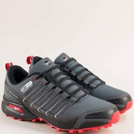 Спортни мъжки обувки в сив цвят- Grand Attack  30597-45sv