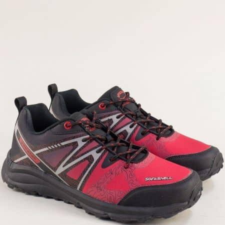 Мъжки маратонки в червено и черно- Grand Attack 30606-45chchv