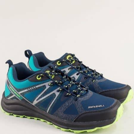 Мъжки маратоки с връзки в син цвят- Grand Attack 30606-45sz