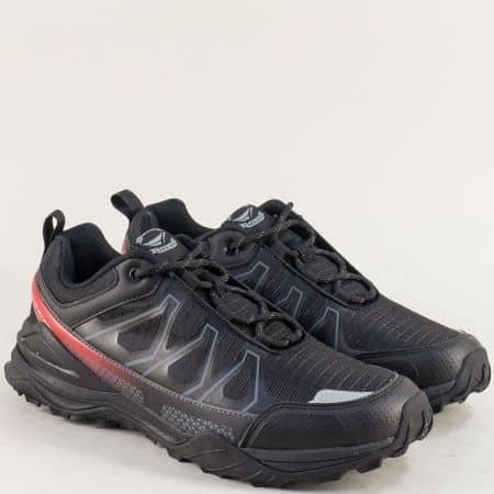 Мъжки маратонки в черно, червено и сиво- GRAND ATTACK 30608-45ch