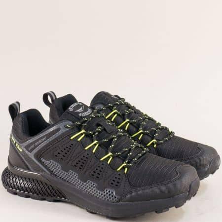 Черни мъжки маратонки с връзки- Grand Attack 30609-45chz