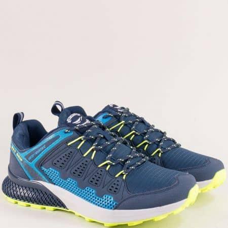 Сини мъжки маратонки с връзки- Grand Attack 30609-45s