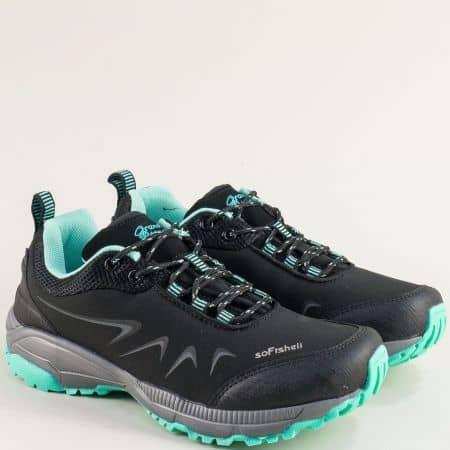 Дамски черни маратонки на цветно и модно ходило 30628-40chz