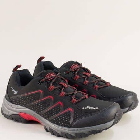 Спортни мъжки обувки в червено и черно- Grand Attack  30629-45chchv