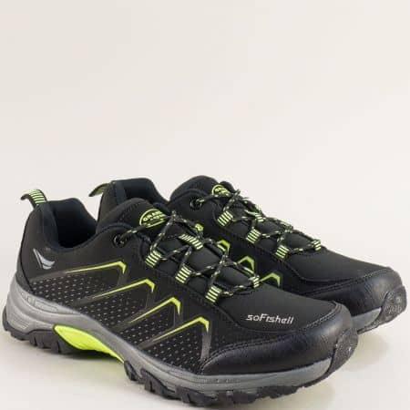 Спортни мъжки обувки в зелено и черно- Grand Attack 30629-45chz
