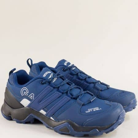 Мъжки маратонки с връзки в син цвят- Grand Attack 30657-45s
