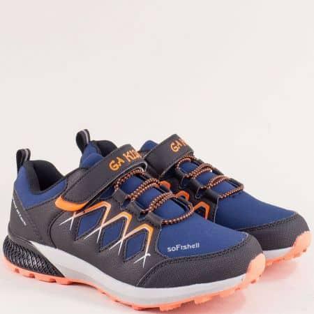 Сини детски маратонки с връзки и лепка- GRAND ATTACK 30668-35s