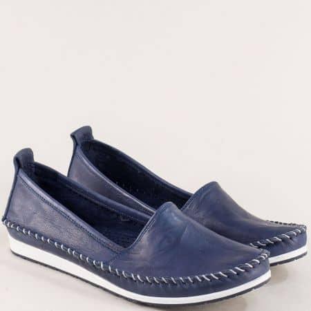 Дамски обувки в тъмно син цвят с кожена стелка 3071010ts