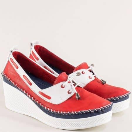 Дамски обувки в червено, бяло и синьо на платформа 30814810chvtomi