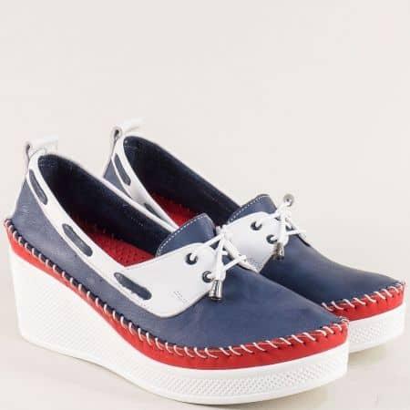 Дамски обувки на платформа в бяло, синьо и червено 30814810stomi