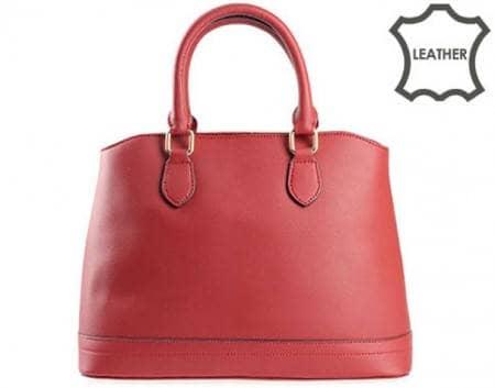Стилна и удобна дамска чанта с моден италиански дизайн, изработена от висококачествена естествена кожа в цвят бордо ch3096bd