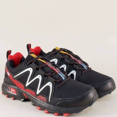 Черни мъжки маратонки Knup на комфортно ходило 34161ch