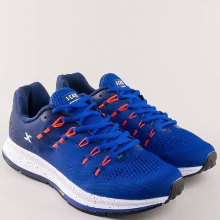 Унгарски мъжки маратонки с връзки в син цвят 324011-45s