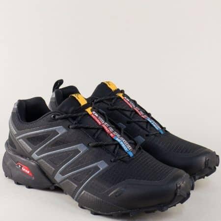 Мъжки маратонки в черно Knup на грайферно ходило 3247-49ch