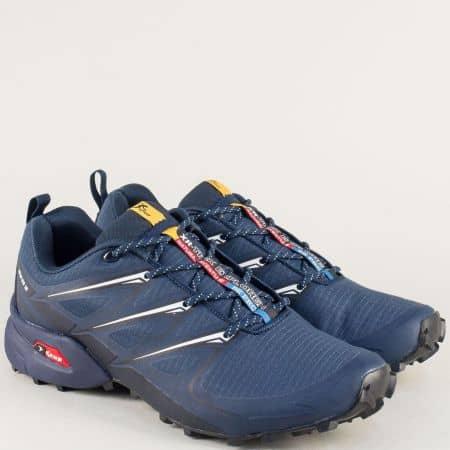 Сини мъжки маратонки Knup с връзки 3481-45sb