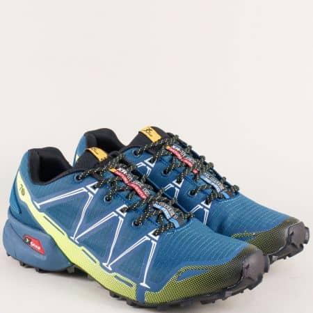 Сини мъжки маратонки на марка Knup 3482-45s