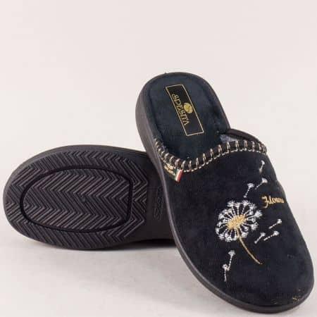 Дамски домашни пантофи на удобно ходило в черен цвят 356ch