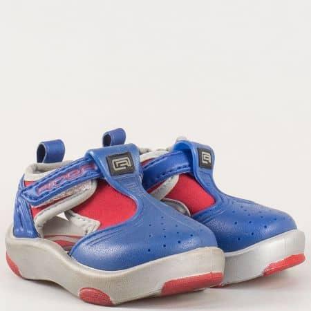 Детски комфортни сандали произведени от висококачествен силикон на бразилския производител Rider в син и сив цвят 3626720625