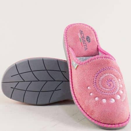 Дамски домашни пантофи в розов цвят- Spesita 363rz