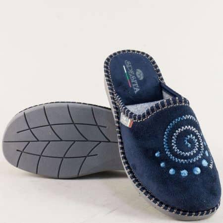 Дамски домашни чехли в тъмно син цвят- Spesita 363s