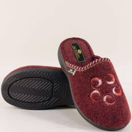 Дамски домашни пантофи- Spesita в цвят бордо 368bd
