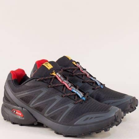 Дамски спортни обувки с връзки в черен цвят- Knup 3871-40ch