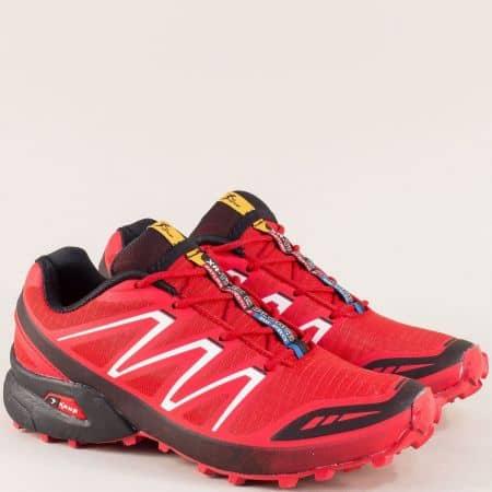 Дамски спортни обувки с връзки в червен цвят- Knup 3871-40chv