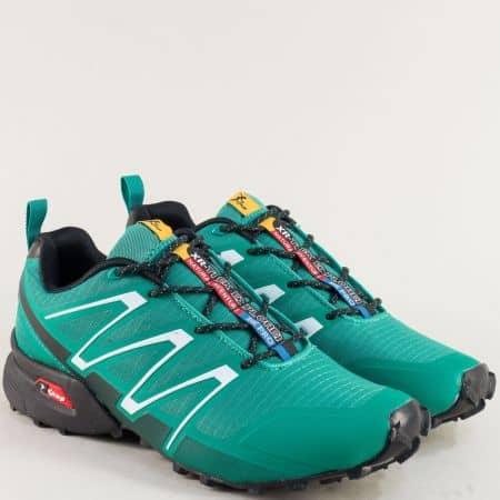 Унгарски мъжки маратонки в зелен цвят 3872-45z