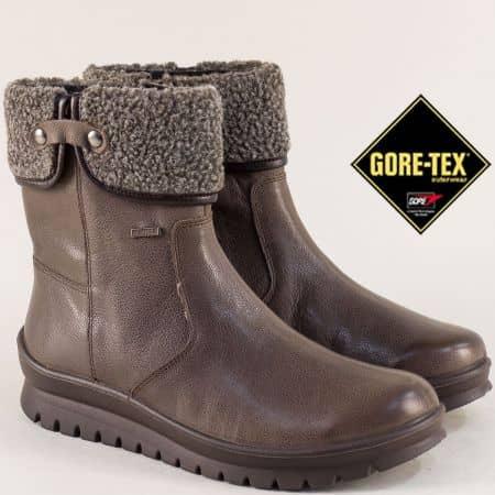 Тъмно кафяви дамски боти с Gore- Tex мембрана- ALPINA 392k