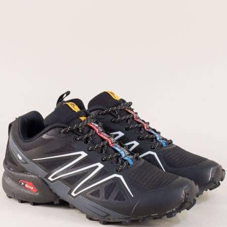 Дамски маратонки с връзки в черен цвят- Knup 3946-40chsv