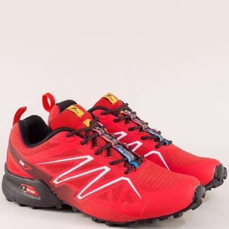 Дамски маратонки в червен цвят с връзки- Knup 3946-40chv