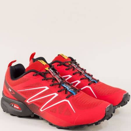 Мъжки спортни обувки в червен цвят- KNUP 3946-45chv