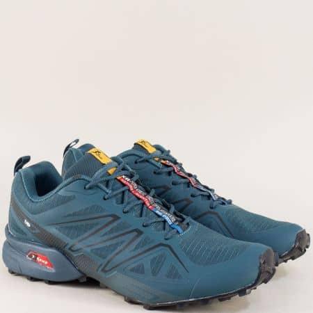 Спортни мъжки обувки в сив цвят на равно ходило 3946-49s