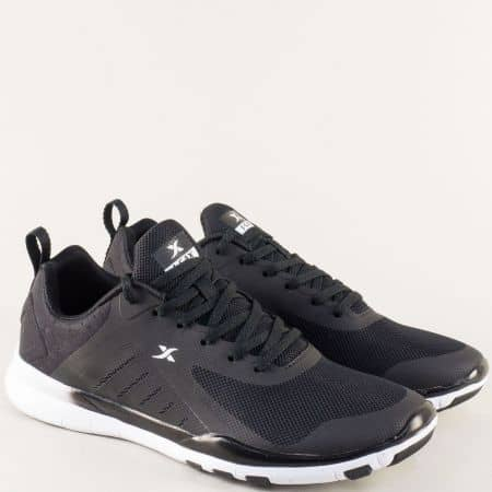 Равни мъжки маратонки с връзки в черен цвят- Knup 3969-45ch