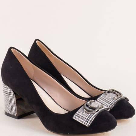 Дамски обувки на висок ток в черен цвят- ELIZA 39825vchb