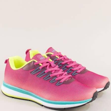 Цикламени дамски маратонки с връзки- MAT STAR 400057ck