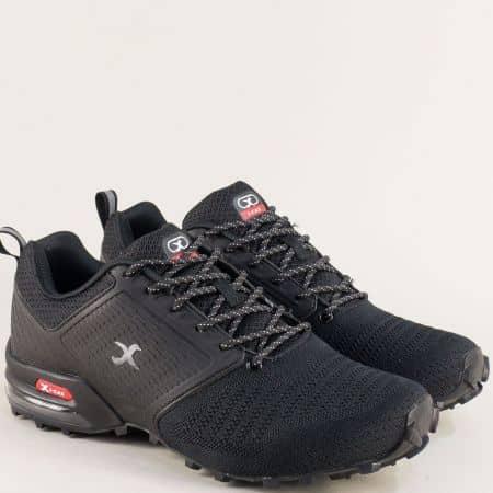Мъжки маратонки в черен цвят на стабилно ходило 40190-45ch