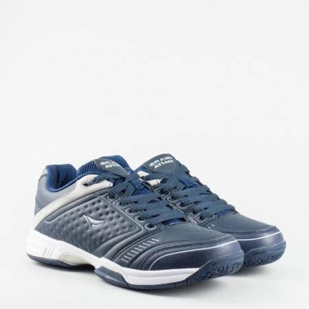 Мъжки маратонки  GRAND ATTACK от еко кожа в син цвят 4085-45s