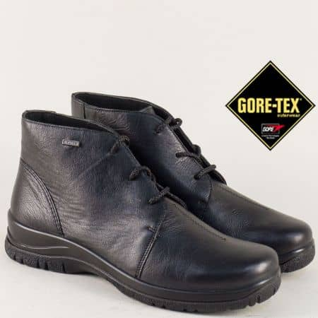Кожени дамски боти в черен цвят с Gore- Tex мембрана 4111ch