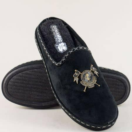 Мъжки домашни пантофи в черен цвят- DINAMIC  41544ch