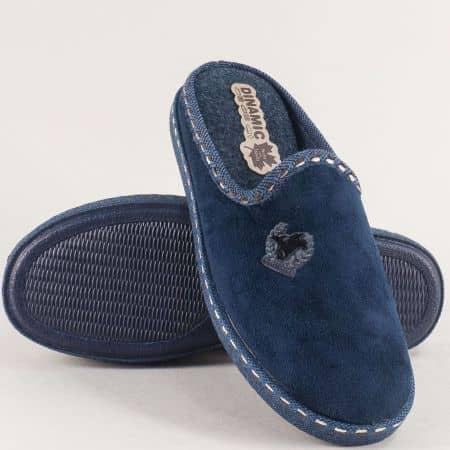 Мъжки домашни чехли в тъмно син цвят- DINAMIC 415470s
