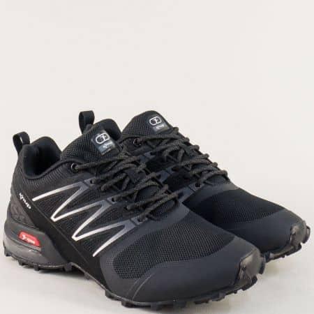Дамски маратонки- KNUP в черен цвят 4199-40ch