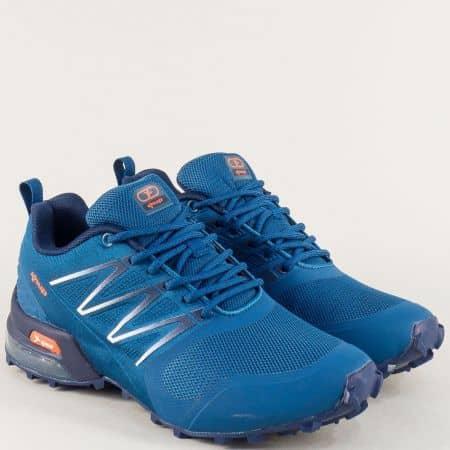 Унгарски дамски маратонки в син цвят- KNUP 4199-40s