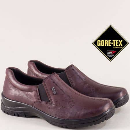 Дамски обувки Gore Tex в бордо от естествена кожа 4256bd