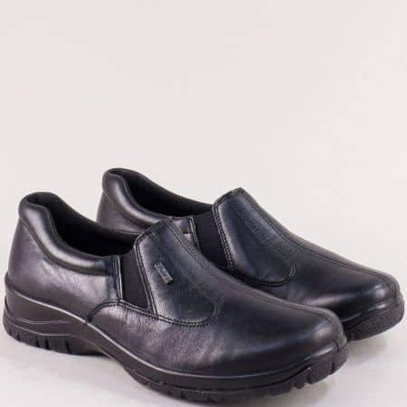 Черни дамски обувки от естествена кожа с Tex- мембрана 4256ch1