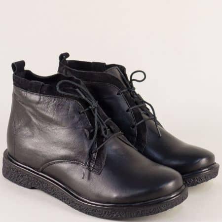 Черни дамски боти от естествена кожа- Nota Bene  4345988ch