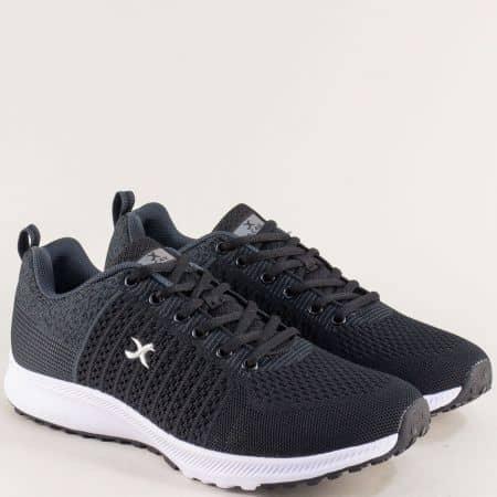 Мъжки маратонки- KNUP в черен цвят 4552-45ch